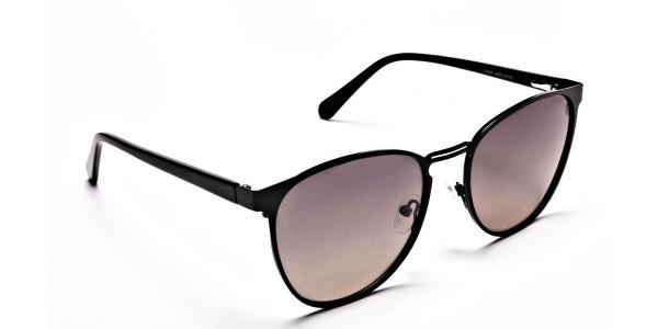 Round Aviator Sunglasses-2