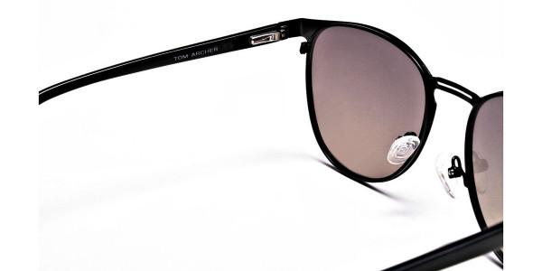 Round Aviator Sunglasses-5