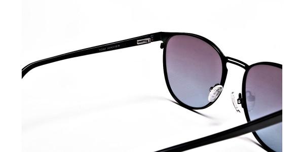 Black Round Sunglasses-4