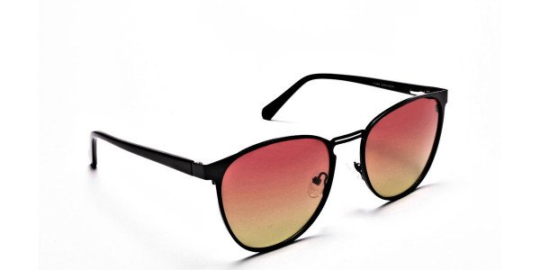 Red Yellow Gradient Sunglasses-2