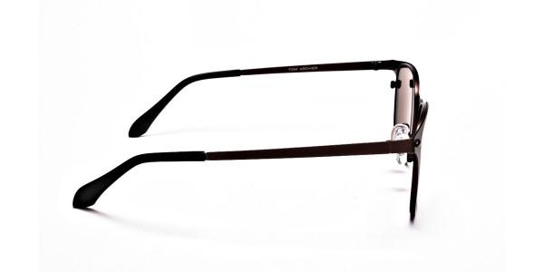 Brown Round Sunglasses- 3