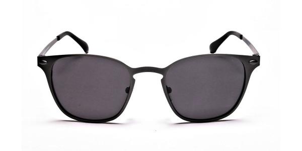 trendy gunmetal sunglasses