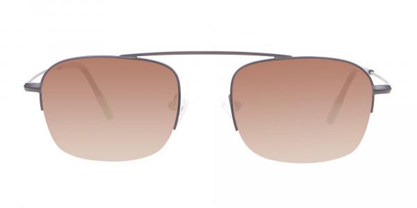 Black Square Sunglasses - 1