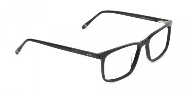 Designer Black Glasses Rectangular - 2