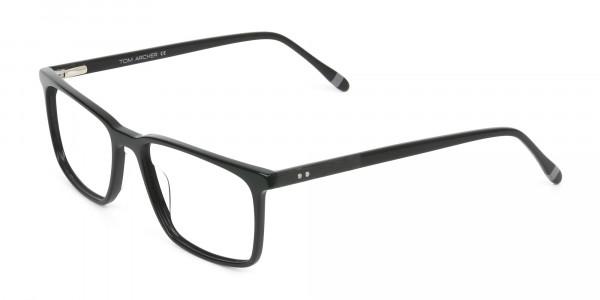 Designer Black Glasses Rectangular - 3