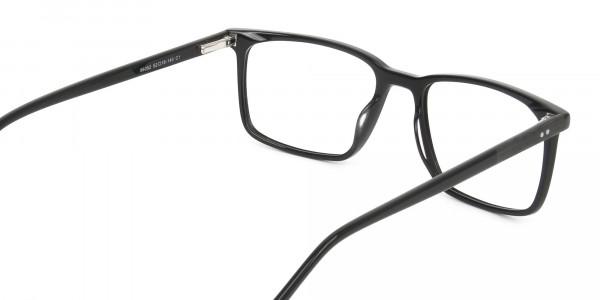 Designer Black Glasses Rectangular - 5