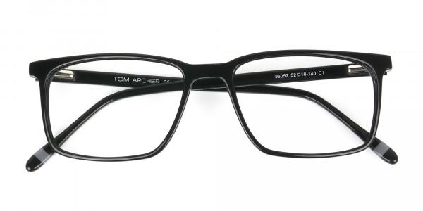 Designer Black Glasses Rectangular - 6