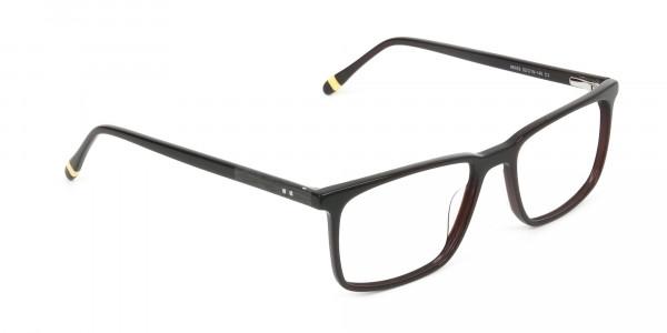 Designer Dark Brown Glasses Rectangular - 2