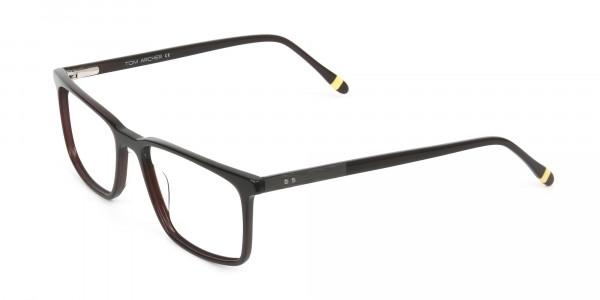 Designer Dark Brown Glasses Rectangular - 3