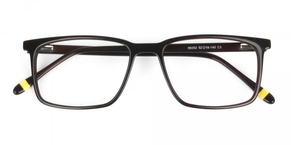 Designer Dark Brown Glasses Rectangular - 6