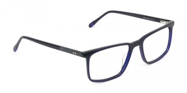 Designer Navy Blue Glasses Rectangular - 2