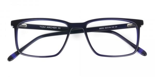 Designer Navy Blue Glasses Rectangular - 6