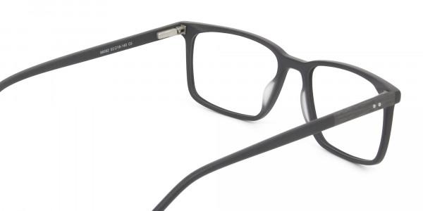 Designer Matte Grey Glasses Rectangular - 5