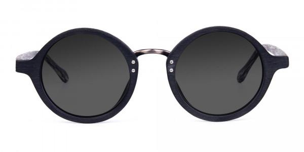 Black-Round-Wood-Sunglasses-with-Grey-Tint-1