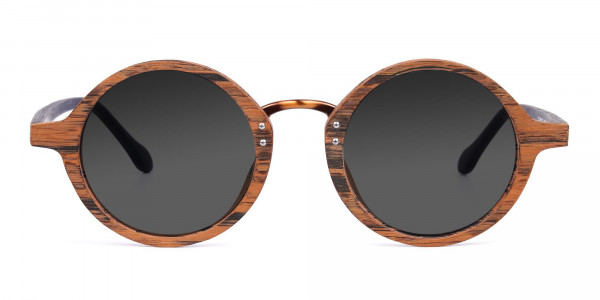 Round-Brown-Wood-Sunglasses-With-Grey-Tint-1