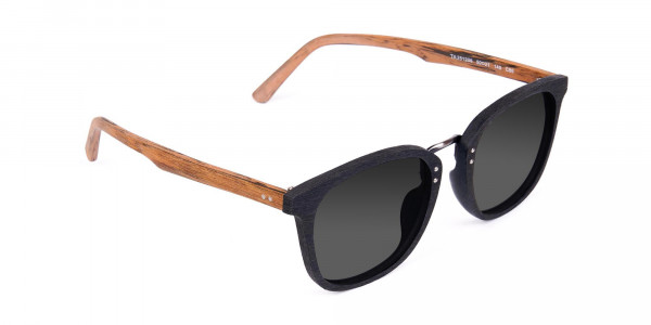Wood-Black-Frame-Square-Sunglasses-with-Grey-Tint-2