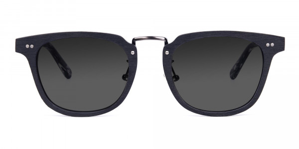 Wooden-Black-Square-Frame-Sunglasses-with-Green-Tint-1