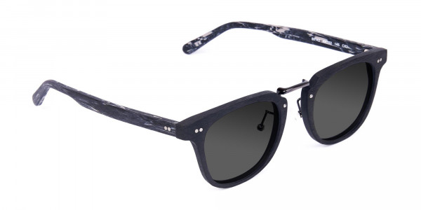 Wooden-Black-Square-Frame-Sunglasses-with-Green-Tint-2
