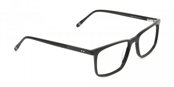Designer Black Glasses Rectangular - 2