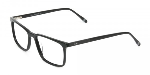 Designer Black Glasses Rectangular - 3