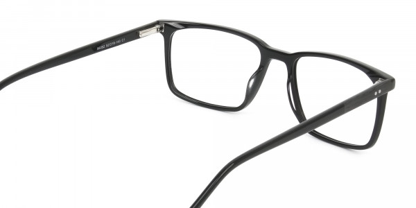 Designer Black Glasses Rectangular - 5