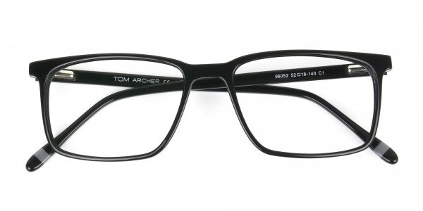 Designer Black Glasses Rectangular - 6