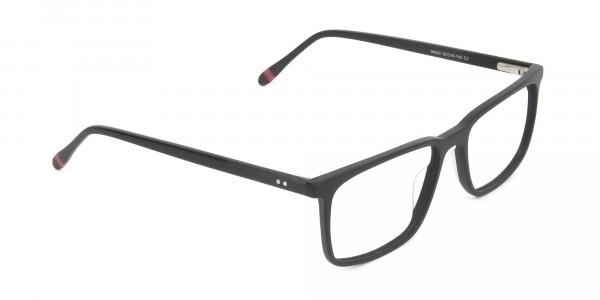 Designer Matte Black Optical Glasses - 2