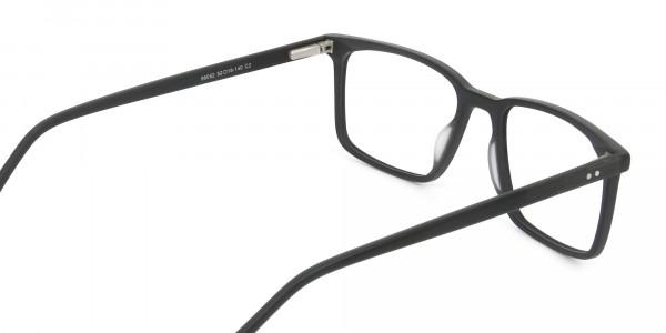 Designer Matte Black Optical Glasses - 5