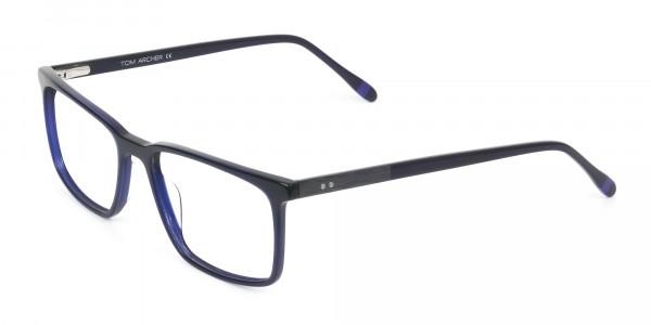 Designer Navy Blue Glasses Rectangular - 3