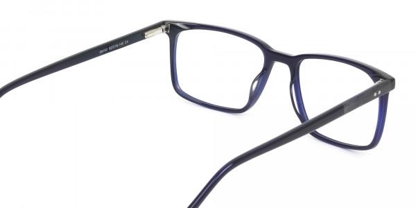 Designer Navy Blue Glasses Rectangular - 5