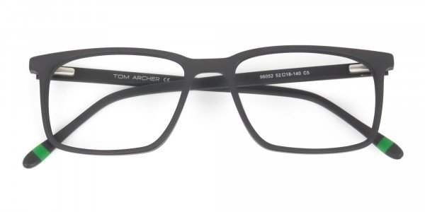 Designer Matte Grey Glasses Rectangular - 6