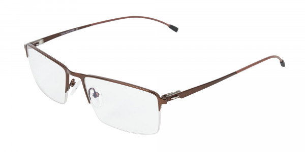 Brown Semi-Rim Glasses with Spring Hinges-3