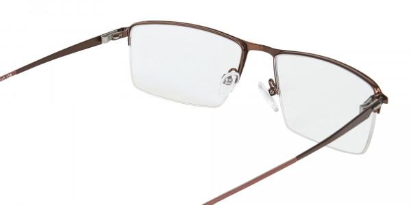 Brown Semi-Rim Glasses with Spring Hinges-5
