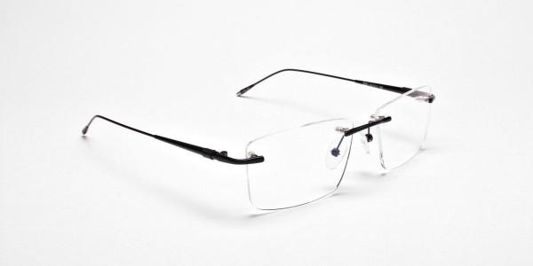Rimless Glasses in Black for Men & Women -2
