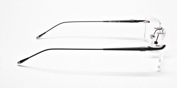 Rimless Glasses in Black for Men & Women -4