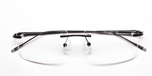 Rimless Glasses in Black for Men & Women -6