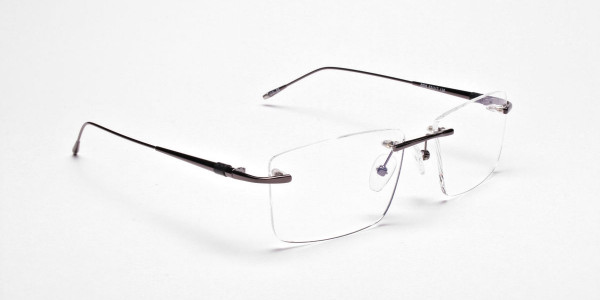 Rimless Glasses in Gunmetal for Men & Women - 2