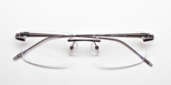 Rimless Glasses in Gunmetal for Men & Women - 5