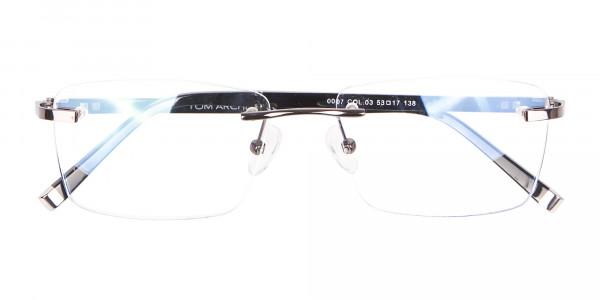 Detailed Rimless Glasses & Ticker Temple-6