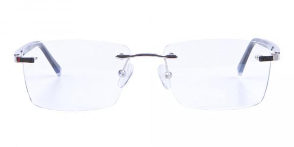 Silver Rimless Frame Ultralight, Online UK -1