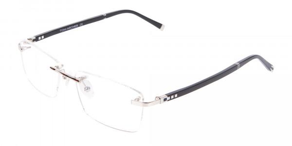 Silver Rimless Frame Ultralight, Online UK -3