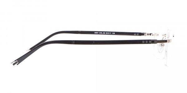 Silver Rimless Frame Ultralight, Online UK -4