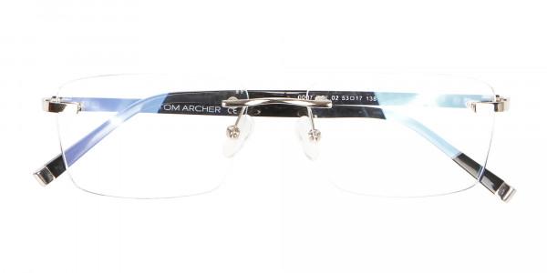 Silver Rimless Frame Ultralight, Online UK -6