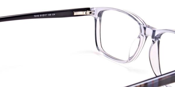 Blue Transparent Glasses in Wayfarer for Men & Women -5