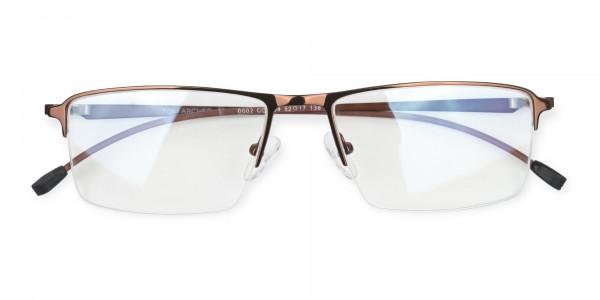 Brown Semi-Rim Glasses with Spring Hinges-6