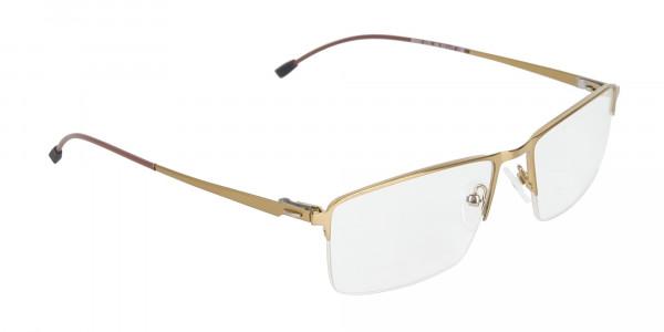Gold Semi-Rim Glasses with Spring Hinges-2