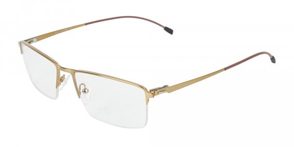 Gold Semi-Rim Glasses with Spring Hinges-3