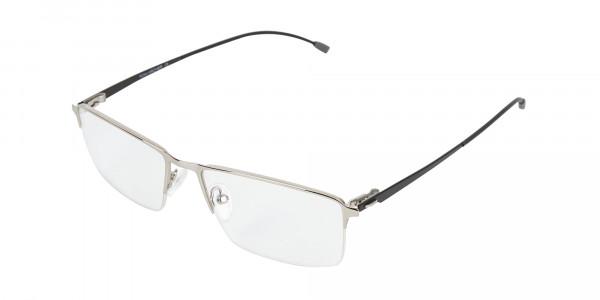 Silver Semi-Rim Rectangle Glasses-3