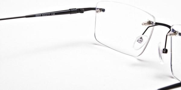 Rimless Glasses in Black for Men & Women -5