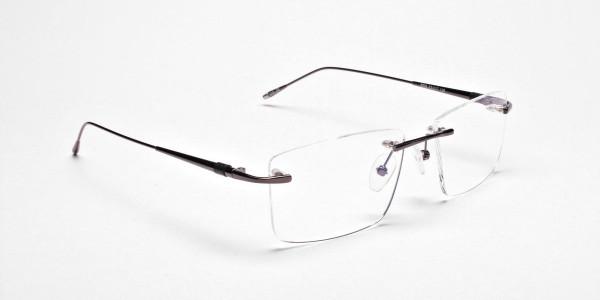 Rimless Glasses in Gunmetal for Men & Women - 2